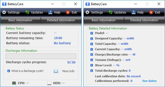 phần mềm kiểm tra độ chai pin laptop batterycare